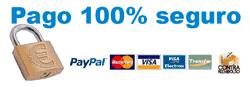 Pago seguro con Paypal y Tarjetas de débito y crédito