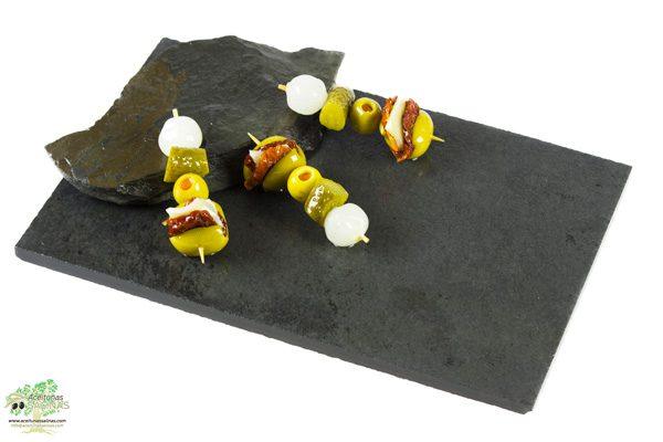 Pincho Gourmet de Aceituna con Tomate seco con queso