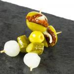 Detalle del Pincho de Tomate seco con Queso